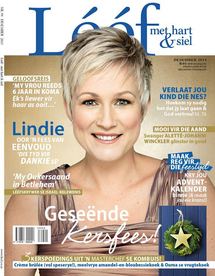Desember'13 LEEF Voorblad - Lindie Strydom - Fotograaf: Leana Clunies-Ross. Hare&Grimering: Adelle Jung. www.leef.co.za