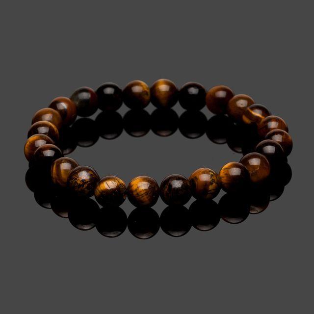 2017 fashion 8mm natural stone tiger eye beads buddha strand bracelet bangles male jewelry charm bracelets for women men on hand