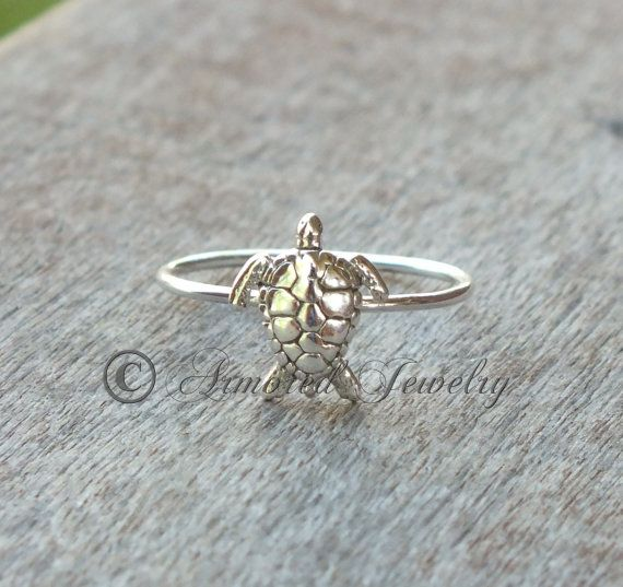 Seaturtle Sea Turtle Ring  Sterling silver  Sea  by ArmoredJewelry, $30.00