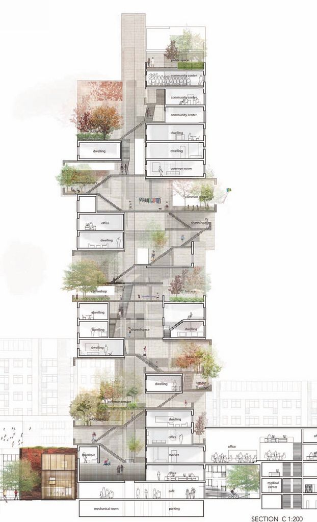 Modern Architecture Drawing best 25+ building section ideas on pinterest | architectural