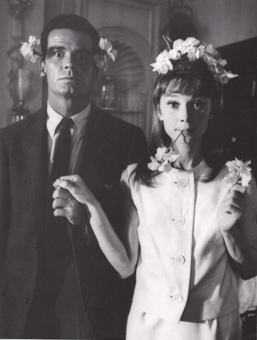 LifeFlower Crowns, Audrey Hepburn, James Garner, Silly Pictures, Wedding Photos, Flower Power, Audreyhepburn, People, Flower Girls