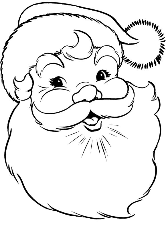 Face Of Santa Claus Coloring Pages - Christmas Coloring Pages : KidsDrawing – Free Coloring Pages Online