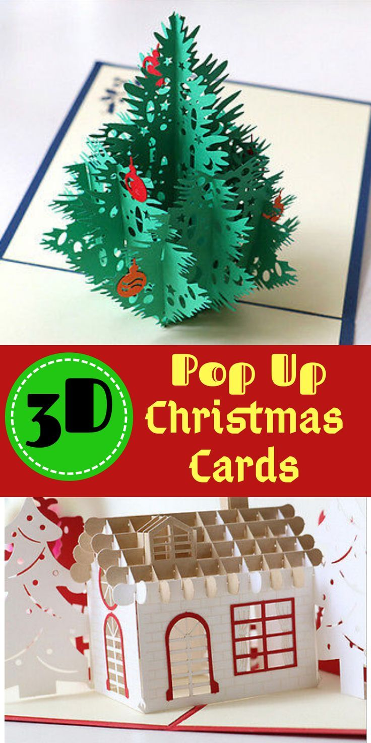 Details about 3D Pop Up Card Christmas Tree Greeting Baby Gift ...