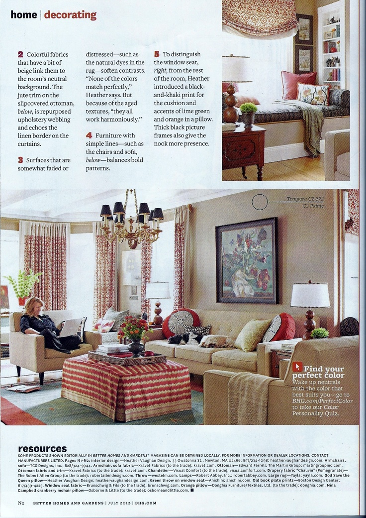 Just Like The Article   Better Homes And Gardens Magazine July 2012