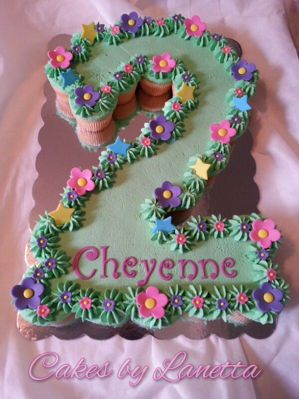 Number 2 Shaped Cake : Birthday Cakes - Number 2 Cupcake Cake Cakes for Girls ...