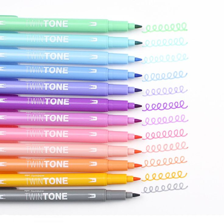 Introducing @tombowusa's new TwinTone Dual Tip Markers!