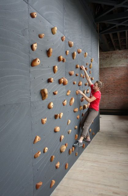 Small training wall at Olympic Athletic Club, Ballard, WA - built by Elevate Climbing Walls.