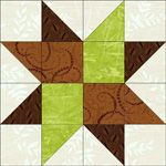 Duck Tracks quilt block pattern. Also, I'm sure I've come across this block with another name, but can't remember ...