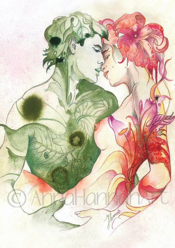 """""""Flower and Leaf"""" from the series """"LOVE ANGELS"""""""