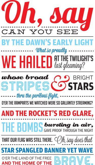 Star Spangled Banner http://heykerrip.com/patriotic-printable/