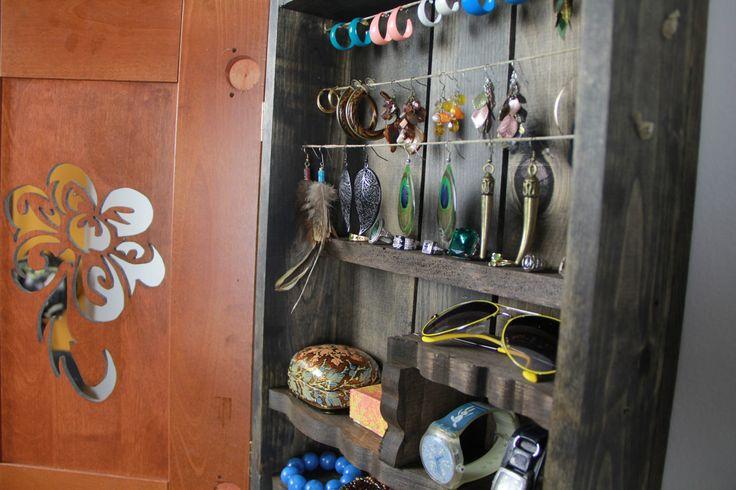 homemade jewelry organizer | jewelry organizer, jewelry storage, Jewelry cabinet, jewelry holder ...