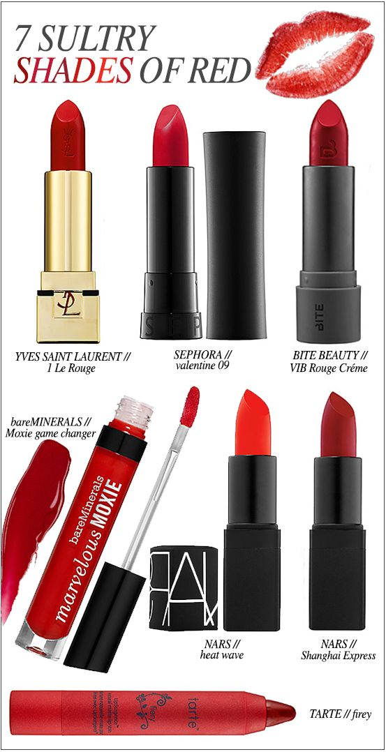 7 Sultry Shades Of Red For Luscious Luscious Lips