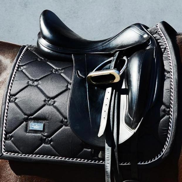 Black On Black Saddle And Pad Equestrianequipmenttack Equestrianequipmentfashionstyles Equestrianequipmentprod Dressage Saddle Pad Dressage Saddle Saddle Pads