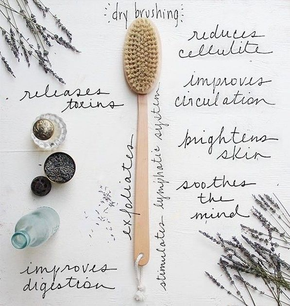 "Have you started dry brushing yet?! We're so amazed by these incredible benefits! The next time you think, ""my pits need a detox"", you'll know what to do 😉  #vegan #vegetarian #drybrush #naturaldeodorant #shop #organic #wellness #beautyblogger #drybrushing #amazon #monday #california #greentidings #lavender #essentialoils #coconutoil #gogreen #health #healthy #nutrition #skin #skincare #spring #allnatural #exfoliate #crueltyfree #greenbeauty #organicskincare #naturalskincare"