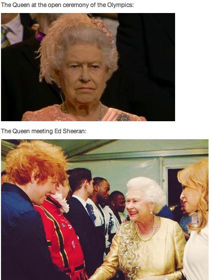 I'd be smiling like that, too, if I got to meet Ed Sheeran. Just saying.