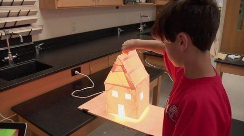 A unique project for teaching STEM. The heat loss project is a great project for middle school classes to cover how thermal energy moves through homes. Technology in this lesson enhances the learning experience.