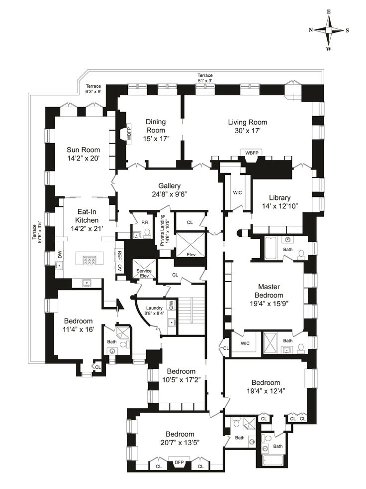 17 best images about architect drawings and plans on for Gossip girl apartment floor plans