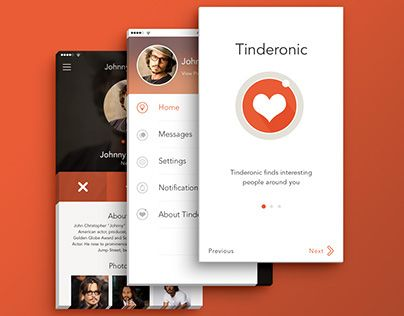 """Check out new work on my @Behance portfolio: """"Mobile UI - Tinderonic (Social Network App)"""" http://on.be.net/1MgWlca"""