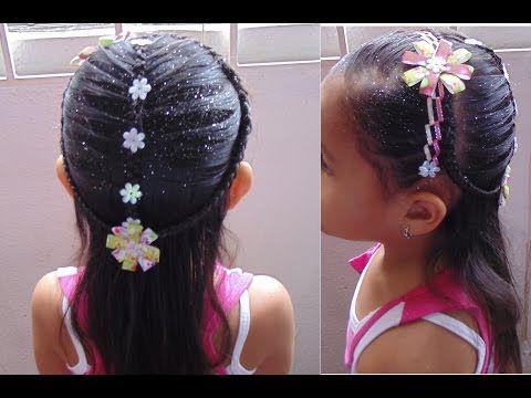 Peinado de Navidad para Niña - Christmas Hairstyle for Girls - YouTube