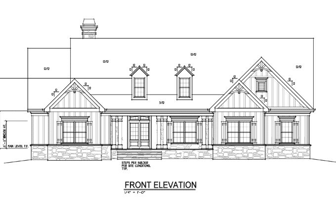 Front Elevation Of Farm Houses : One or two story craftsman house plan farmhouse front