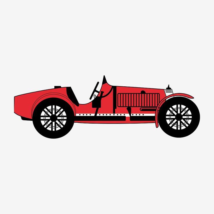 Autobeklederij van Hardeveld | Old car | Red, black | Design by Pach Design