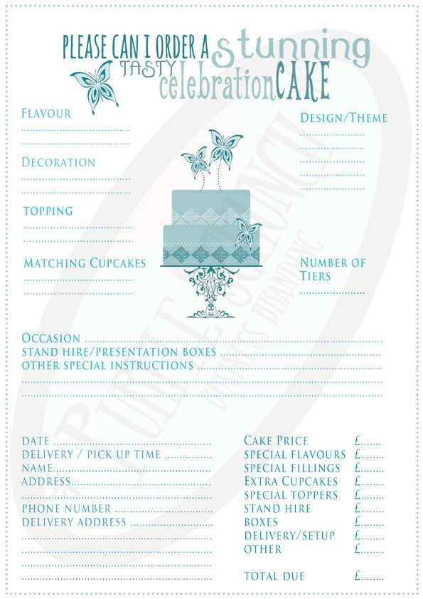 Best 25+ Cake order forms ideas on Pinterest Order cake, Cake - business order form