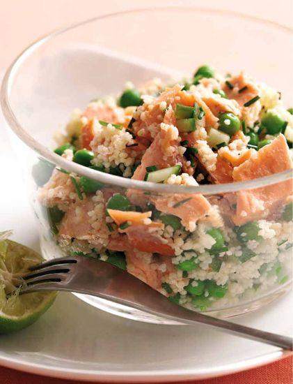Taboulé au saumon et aux petits pois - Recette du Dr Jean-Michel Cohen - Osez la gourmandise