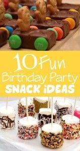 10 Fun & Unique Birthday Party Snack Ideas
