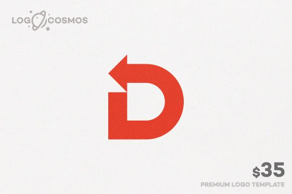 Direction - Letter D & Arrow Logo by @Graphicsauthor