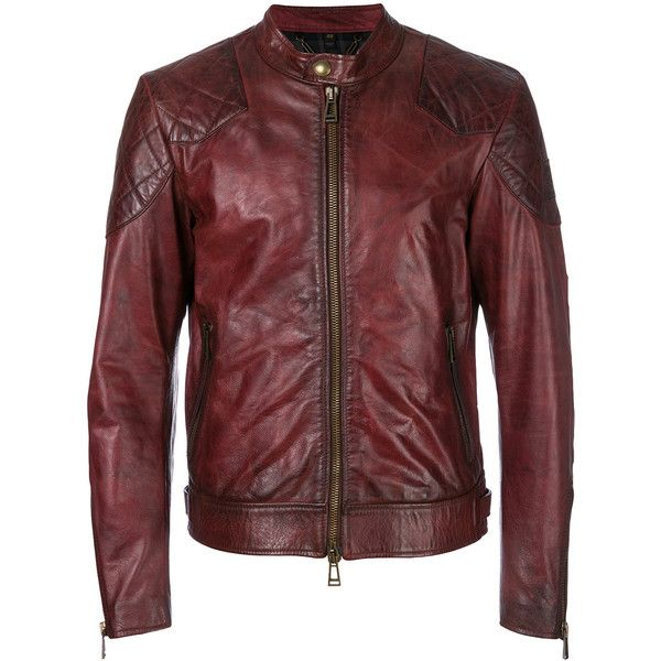 Belstaff antique effect jacket ($1,815) ❤ liked on Polyvore featuring men's fashion, men's clothing, men's outerwear, men's jackets, red, mens real leather jackets, belstaff mens jackets, mens red leather jacket, mens leather jackets and mens red jacket