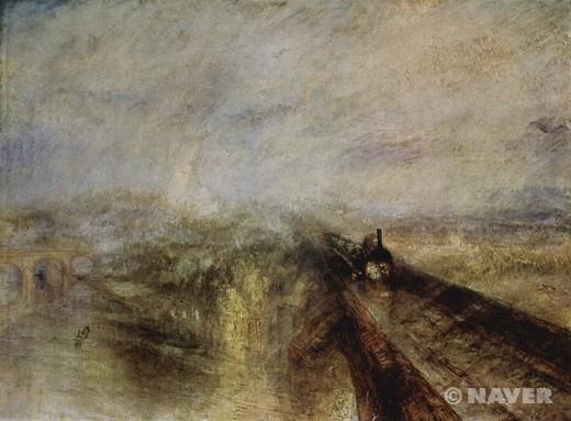 비, 증기, 속도 - 그레이트 웨스턴 철도 조지프 말로드 윌리엄 터너(Joseph Mallord William Turner)