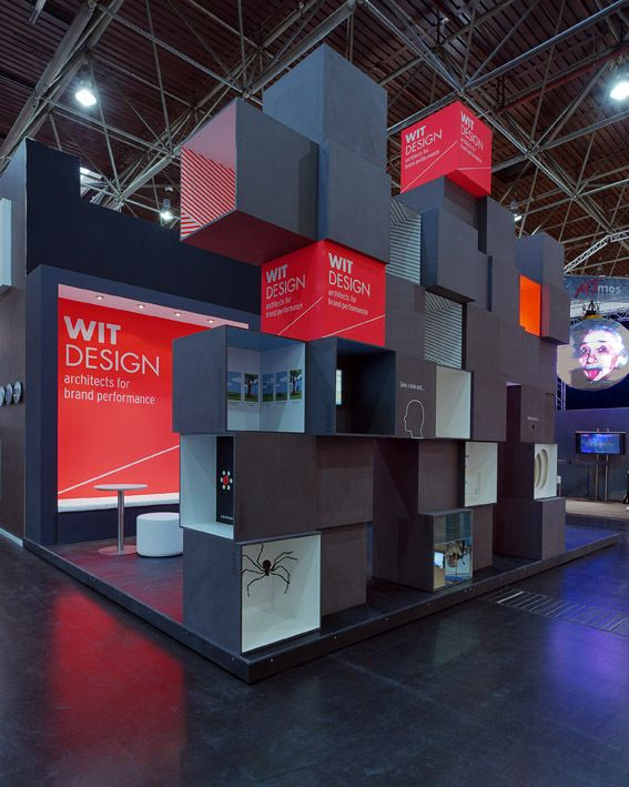 Cool for retail or convention design. Stand Wit Design - Euroshop 2011 by Wit Design, via Behance