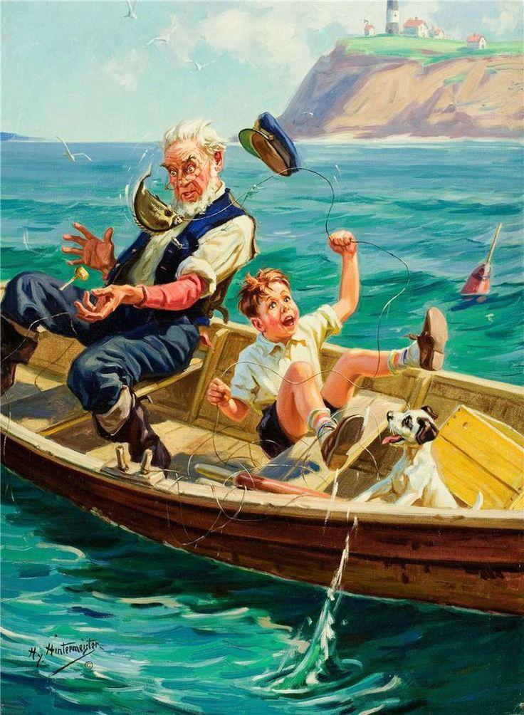 Рыбалка ретро прикольные картинки
