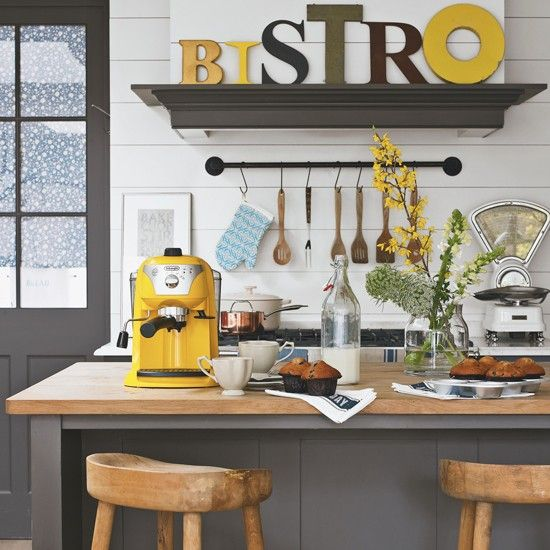 Country kitchen with pops of yellow | Country Crossover decorating ideas | housetohome.co.uk