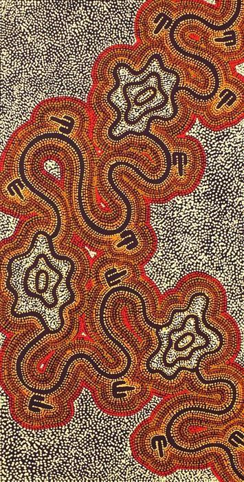 Janganpa Jukurrpa (Brush-tail Possum Dreaming)- Mawurrji by Stephanie Napurrurla Nelson