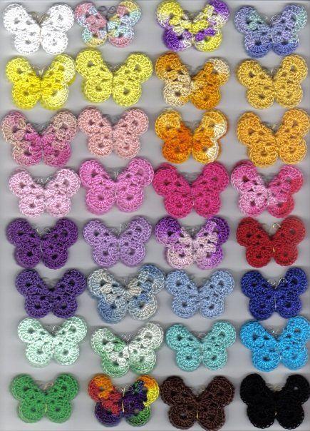 FREE pattern for crochet butterfly  joyceiscrafty.com...  #butterfly #crochetbutterfly #crochetbutterflypattern