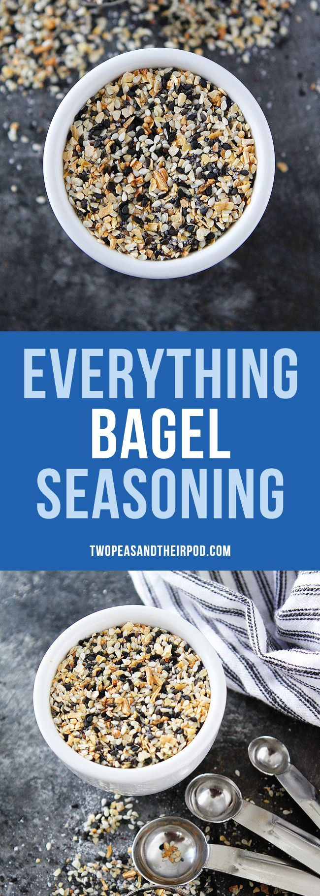How to Make Everything Bagel Seasoning at home! You only need 5 spices and 5 minutes. If you like Trader Joe's famous seasoning, you will LOVE this easy recipe! #diy