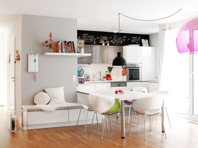 Einrichtungsideen kleine wohnküche  eine gemütliche Küche für die ganze Familie | Einrichtungsideen ...