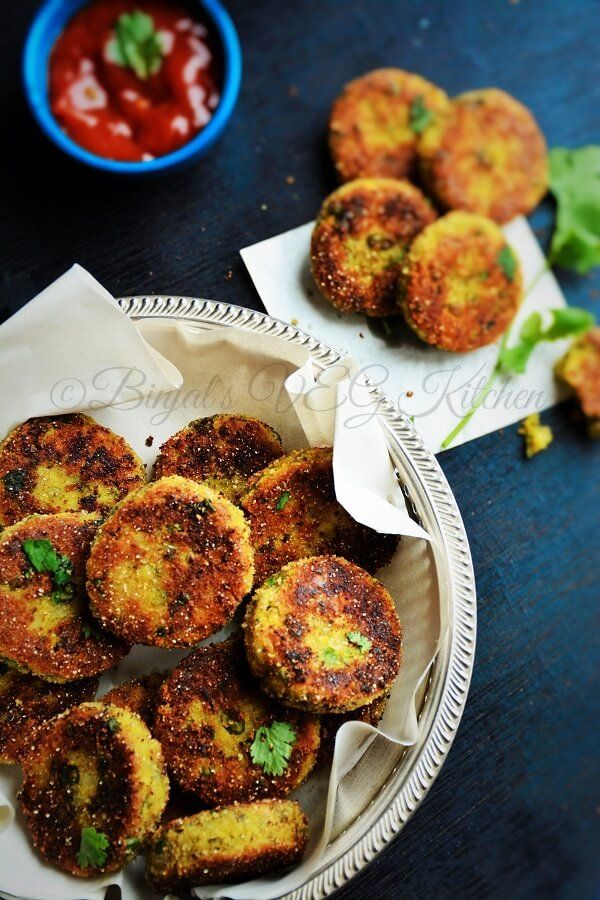Sprouted Moong Cutlet (Tikki/Kabab) - Binjal's VEG Kitchen