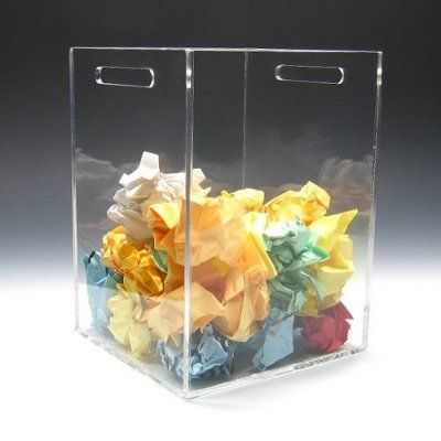 clear security trash can