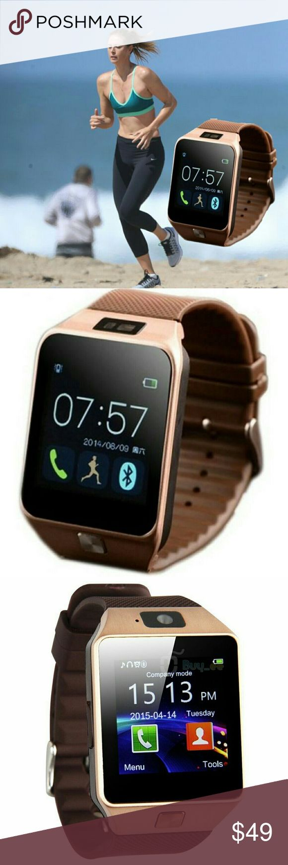 Bluetooth Smart Wrist Watch iPhone LG G Stylo etc Brand New Smart watch for Android, iPhone, IOS, HTC, LG phone and Samsung Built in antenna and FM Radio built in camera, video recorder, mp3 / mp4. GSM Unlocked w/Facebook and WhatsApp functionality!  Download and play music! Take pictures without your phone  Capture videos with Memory card   √GSM UNLOCKED √Pedometer  √Monitor your sleep quality  √Search your watch for contacts  √Add contacts directly to your watch  √Anti-lost Technology…