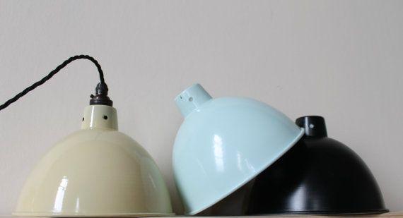 Vintage industrial lighting pendant light by GoodwoodOriginals