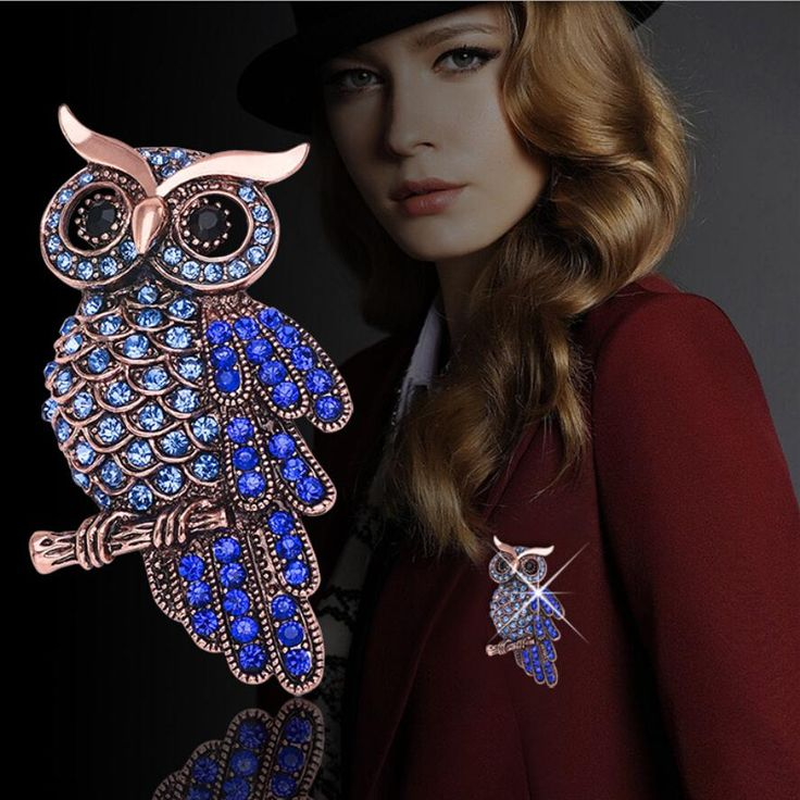 Unisex Retro Owl Brooch FREE Shipping Worldwide http://fashjewels.de/new-brooch-retro-owl-clothing-accessories-hot-pin-charming-chic-high-grade-unisex-individuality-gift/