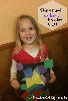 Easy Shape & Color Craft at Coffee With Us 3 / Great for entertaining toddlers and preschoolers #kids #crafts
