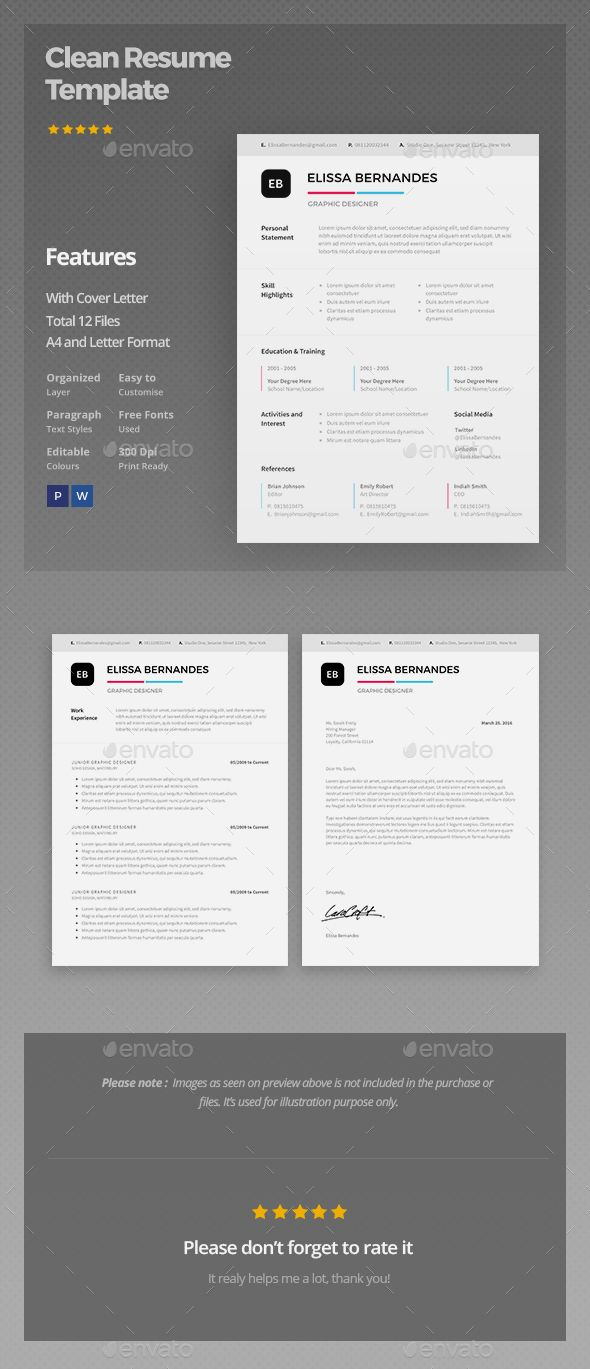 Clean Resume Download%0A Clean Resume Template by ElissaBernandes Clean Resume Template This resume  is the super clean  modern