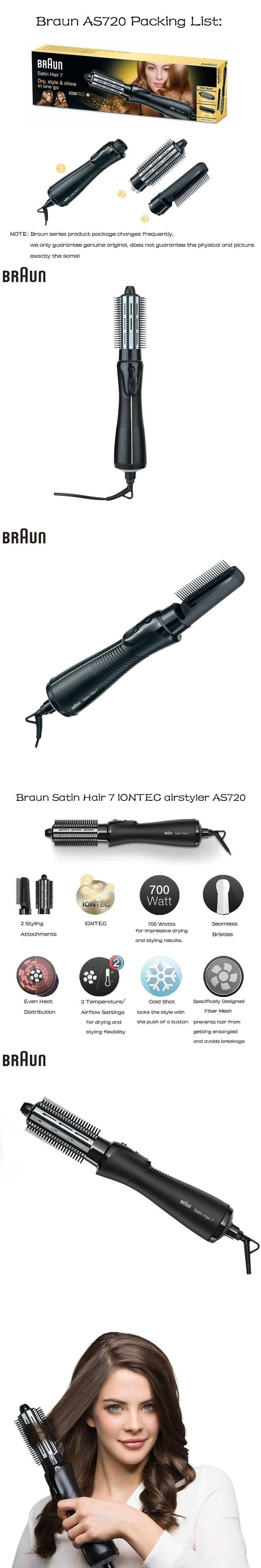 Braun AS720 3 in 1 hair Curling Straightening Irons Hair care Styling Tools Accessories Curler Dryer Combs Satin Hair 7 IONTEC