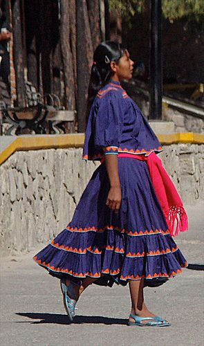 Raramuri (Tarahumara) woman, Creel, Chihuahua, Mexico