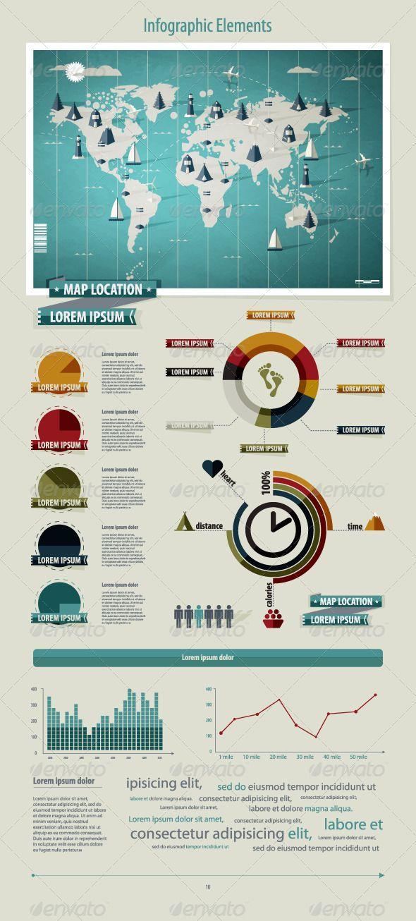 Vectors - Set elements of infographics. World Map | GraphicRiver