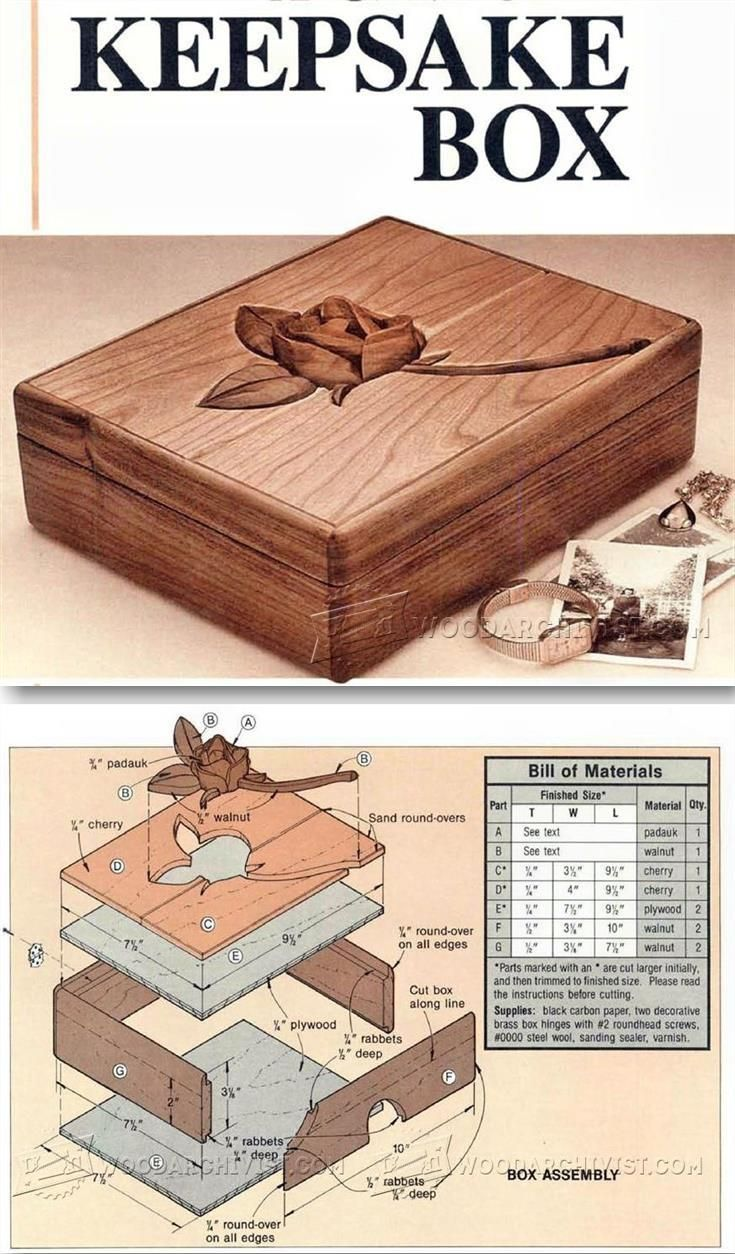 Keepsake Box Plans - Woodworking Plans and Projects | WoodArchivist.com