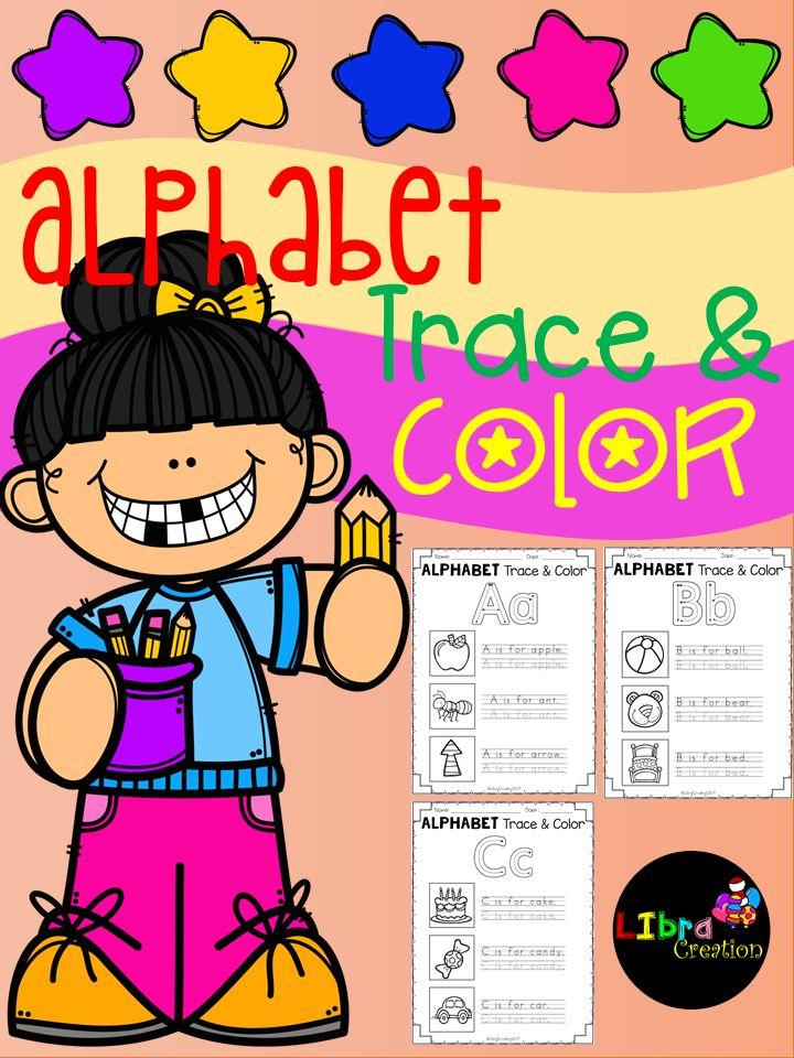 Alphabet Product, Alphabet Activities, Alphabet Fun Activities, Alphabet, Alphabet Trace & Color, Pre-K, Kindergarten, 1st Grade